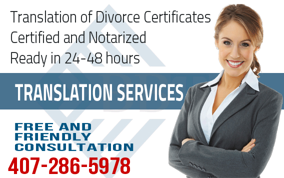 Russian translation of Divorce Certificate,fast translation service,Russian translation,certified and notarized