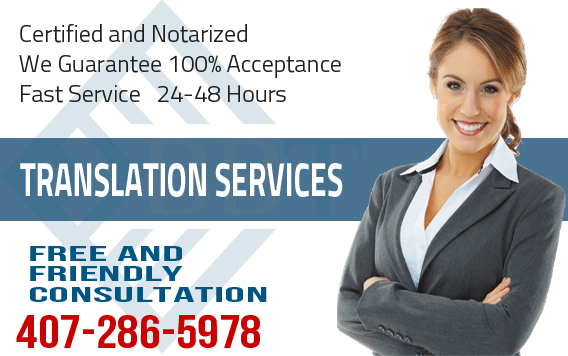 Certified Translation Services in Orlando, spanish, hebrew, english